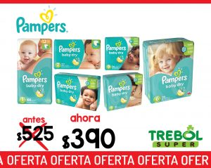 Pamper Baby Dry. Oferta especial, antes RD$525 ahora RD$390